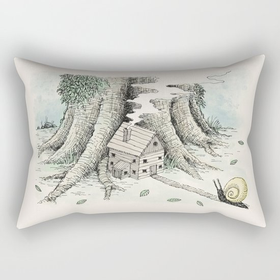 'A Visitor' (Colour) Rectangular Pillow
