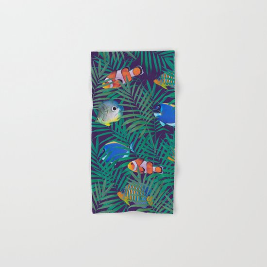 aquarium Hand & Bath Towel
