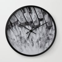 study Wall Clocks featuring study  by monicamarcov