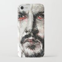 johnny depp iPhone & iPod Cases featuring Johnny Depp by KlarEm
