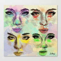 2ne1 Canvas Prints featuring 2ne1 by Absolem Studio