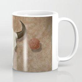 Bison Skull with Rose Rocks Coffee Mug