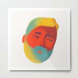 Lemon Sportsman (with a beard) Metal Print
