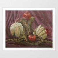 Fall Harvest Still Life Art Print