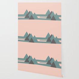 Peak Pink Grey Wallpaper
