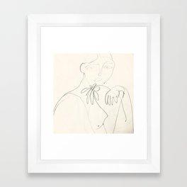 Una Flor: sketch Framed Art Print