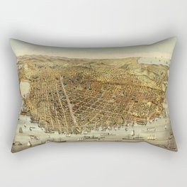 San Francisco Waterfront Rectangular Pillow