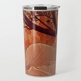 DUSK by Alphonse Mucha Travel Mug