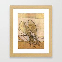 listening, crossing, returning Framed Art Print
