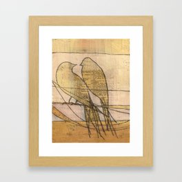 listening, crossing, returning Framed Art Print