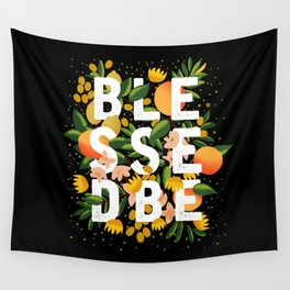 BLESSED BE BLACK Wall Tapestry