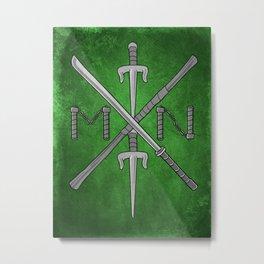 Weapons Down - TMNT Metal Print