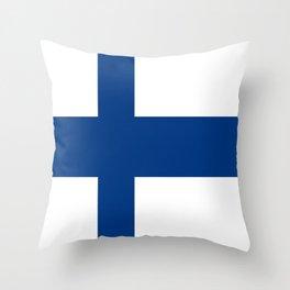 Flag of Finland 1 -finnish, Suomi, Sami,Finn,Helsinki,Tampere Throw Pillow