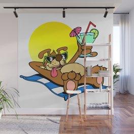 Beach Dawg Wall Mural