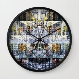 a transitory rotating necessity sectional exercise Wall Clock