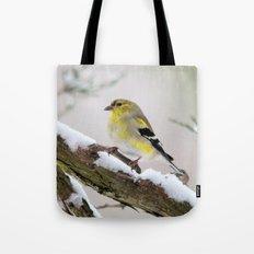 Balancing Act (American Goldfinch) Tote Bag