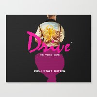 video game Canvas Prints featuring Drive Video Game by Simon Alenius