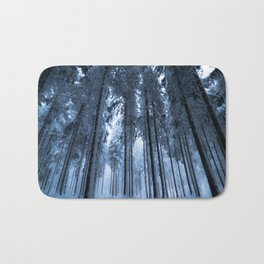 Snowy Winter Trees - Forest Nature Photography Bath Mat