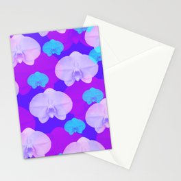 Floral Orchid Flower Background Wallpaper / GFTBackground044 Stationery Cards