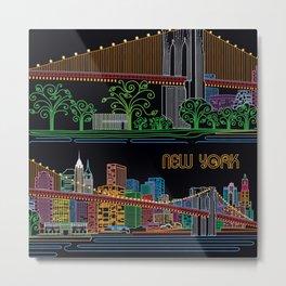 New York Circuit Metal Print