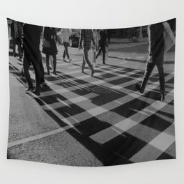 Crosswalk Shadows - Solarized Wall Tapestry
