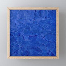 Dark Classic Blue Ombre Burnished Stucco - Faux Finishes - Venetian Plaster - Corbin Henry Framed Mini Art Print