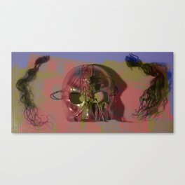 Hair and Mask in an Abandoned Building, No. 1 Canvas Print