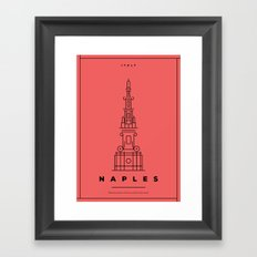 Minimal Naples City Poster Framed Art Print