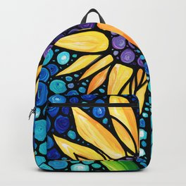 Standing Tall - Sunflower Art By Sharon Cummings Backpack