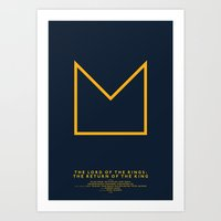 lotr Art Prints featuring LOTR 3 by Michal Krasnopolski