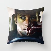 drive Throw Pillows featuring Drive by Jordan Grimmer