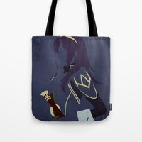 fire emblem awakening Tote Bags featuring Lucina Fire Emblem Awakening  by MKwon