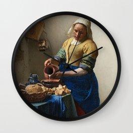 Vermeer - The Milkmaid Wall Clock