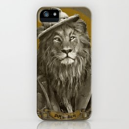 Jay the Lion - Hobo iPhone Case