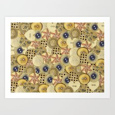 Covered in Buttons Art Print