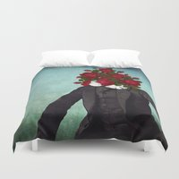 romantic Duvet Covers featuring MR. Romantic by Diogo Verissimo