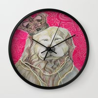 marley Wall Clocks featuring The Marley Series: Czarley by Katie Duker