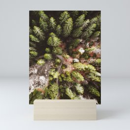 aerial view of the forest Mini Art Print