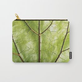 GREEN ORGANIC LEAF WITH VEINS DESIGN ART Carry-All Pouch