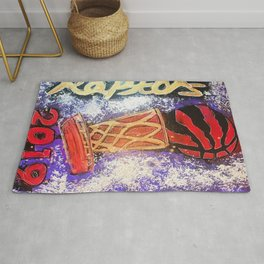 raptors 5,champion,basketball,gold,poster,wall art,2019,winners,NBA,finals,toronto,canada,painting Rug