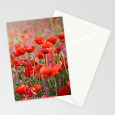 Poppies in Spring Stationery Cards