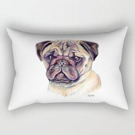Pug - Dog Portrait Rectangular Pillow
