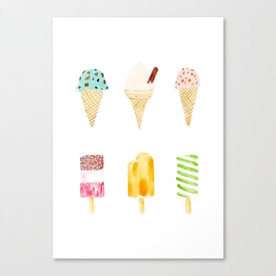 ice cream selection Canvas Print