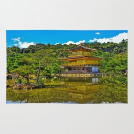 Kinkaku-ji /  Temple of the Golden Pavilion / Japanese Temple / Kyoto / Gold Temple / Japan Rug