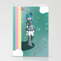 women Stationery Cards featuring Women by Poome et les petites choses