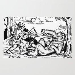 Werewolf Hunting medieval style Rug