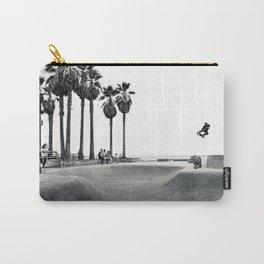 Skateboarding Poster Black and White Venice Skatepark Horizontal Carry-All Pouch