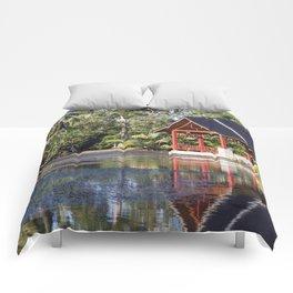 Peaceful Pagoda Comforters
