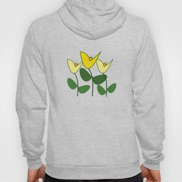 Modern Yellow Tulips Hoody