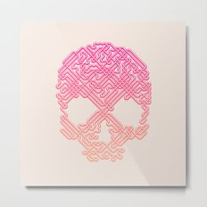 Labyrinthine Skull - Tropical Metal Print